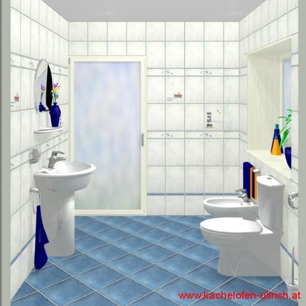 Fliesenplanung Badezimmerplanung 3D