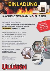 Einladung Bauen & Energie Messe Wien
